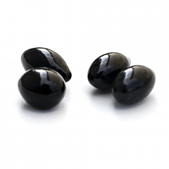 Decorative stones FIRE GLASS - oval black