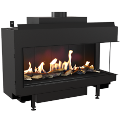 Gas fireplace LEO 100 right for natural gas