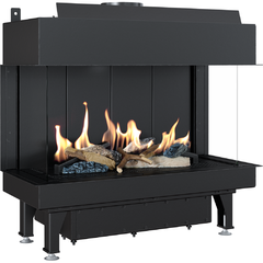 Gas fireplace LEO 70 left / right for propane gas