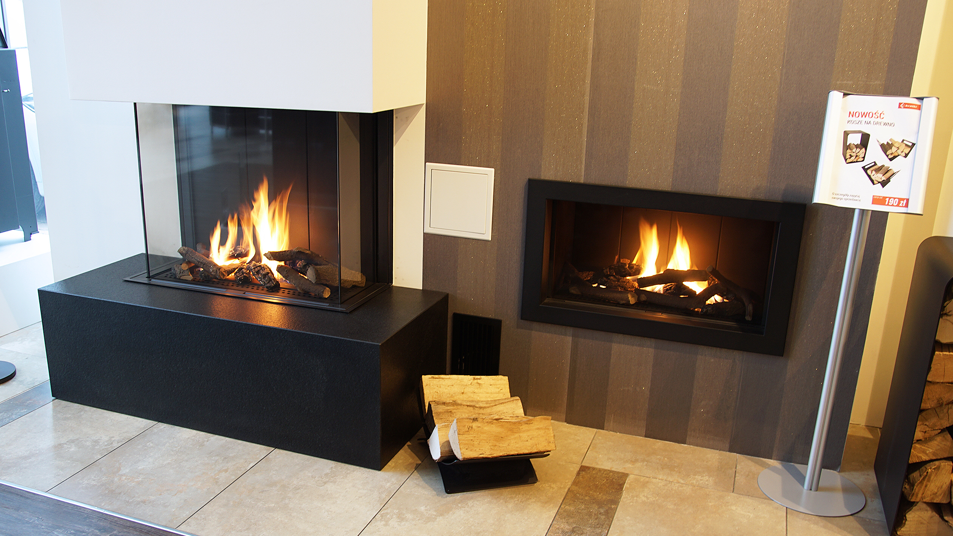Gas fireplace LEO 70 for natural gas