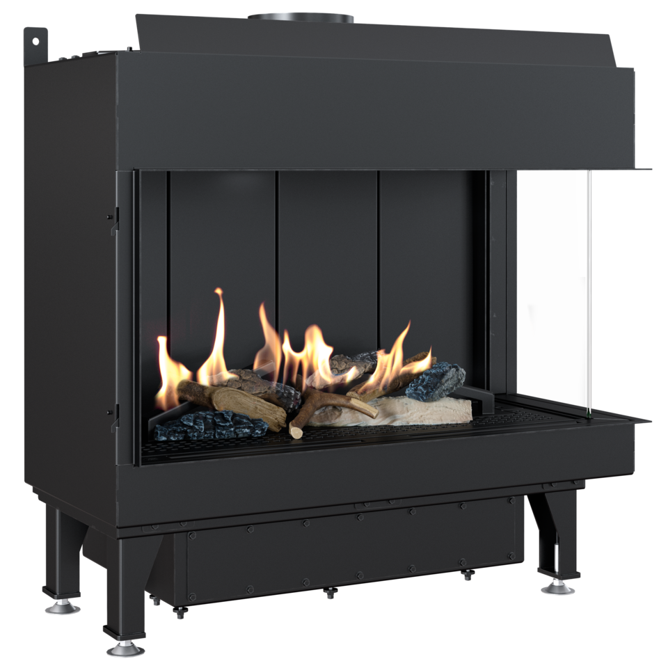 Gas fireplace LEO 70 right for natural gas