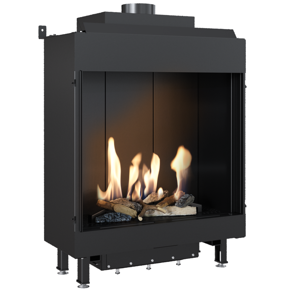 Gas fireplace LEO 76/62 for natural gas
